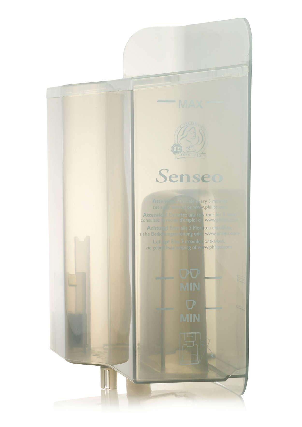 Pour le stockage de l'eau dans la machine à café SENSEO®