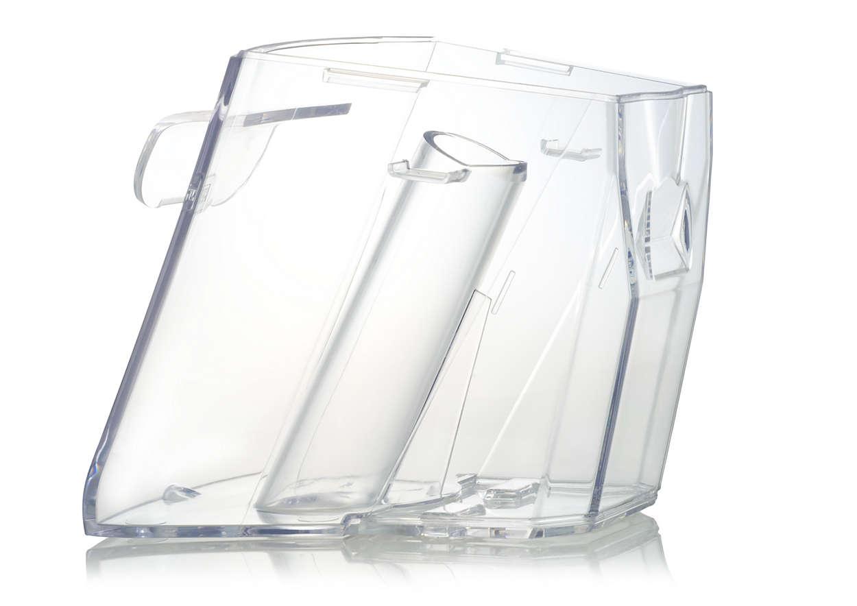 Sammelt Schmutzwasser bei der Reinigung mit Ihrem AquaTrio