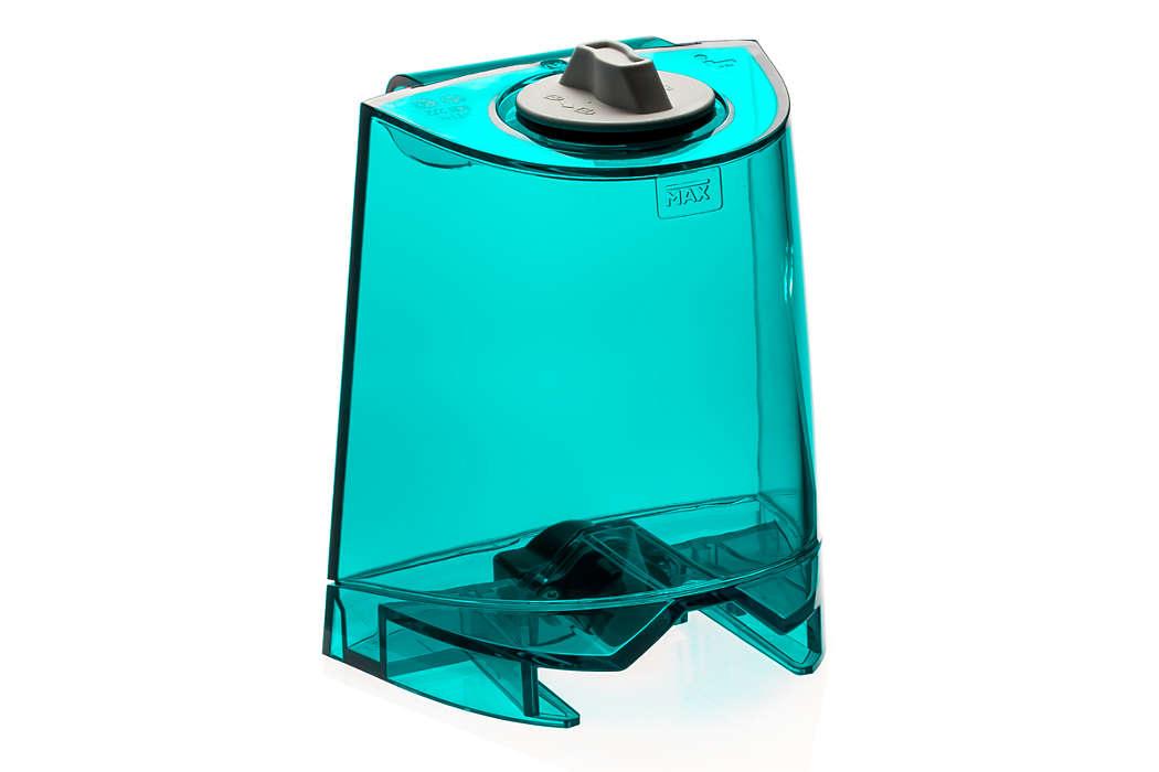 Para almacenar el agua limpia del Aqua Trio