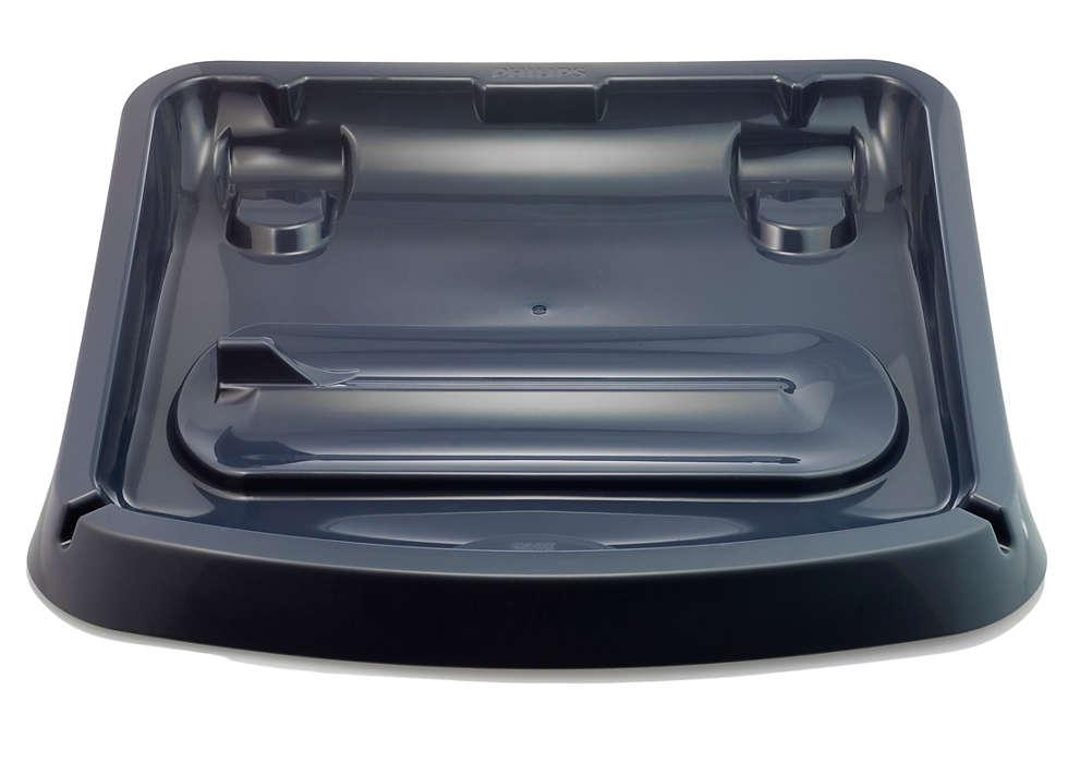 Kelkka, johon voit laittaa Aqua Trion käytön jälkeen