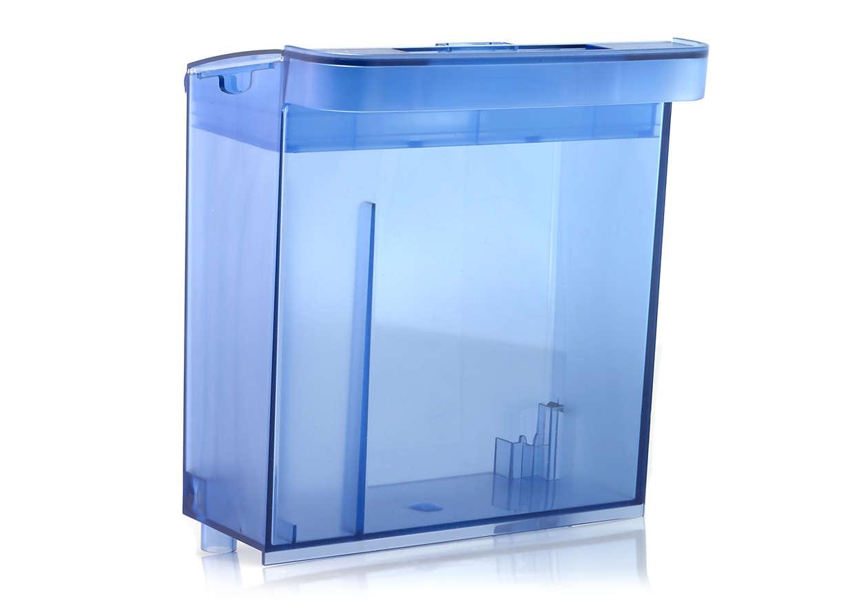 Depósito de agua para el Sistema Integral de Cuidado de la Ropa