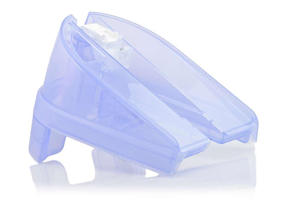 Extra groot waterreservoir voor uw Wardrobe Care