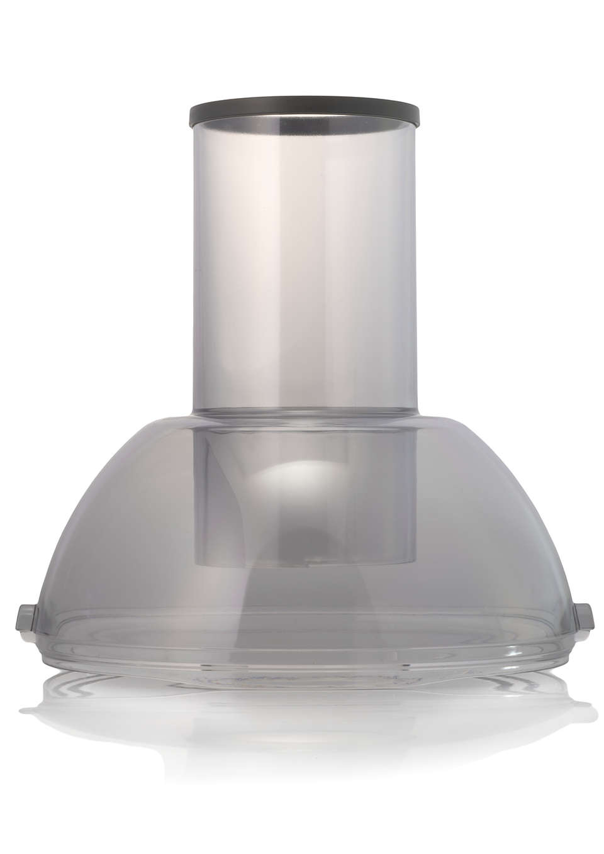 Zum Verschließen des Fruchtfleischbehälters in Ihrem Entsafter