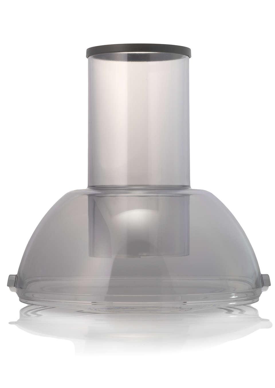 Para cerrar el recipiente de pulpa de la licuadora