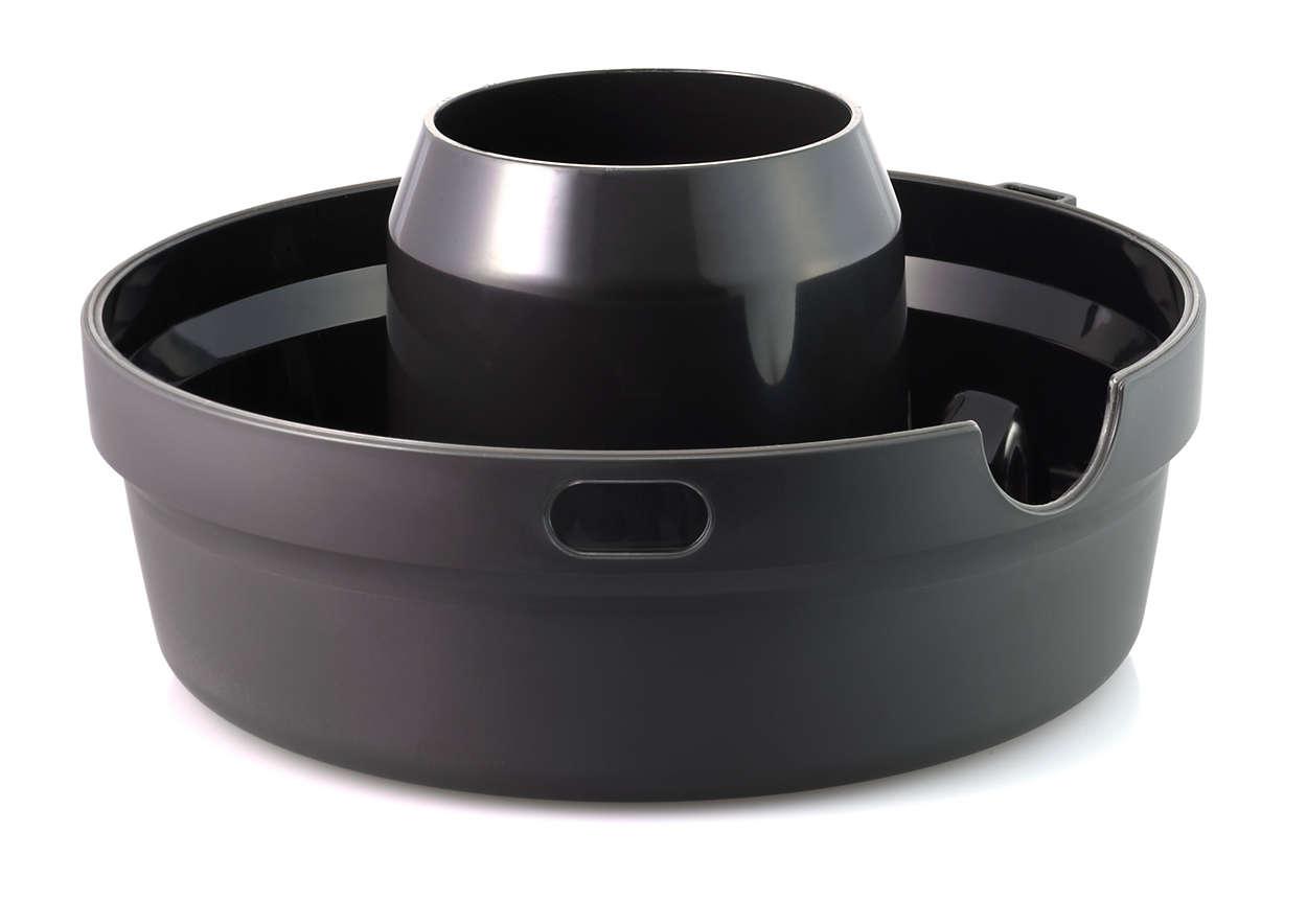 Para almacenar la pulpa de la licuadora