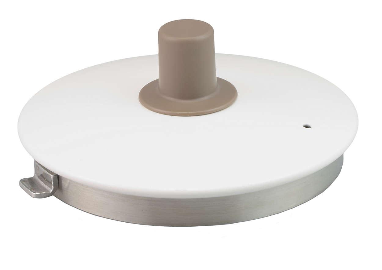 Para cerrar el recipiente de la tetera