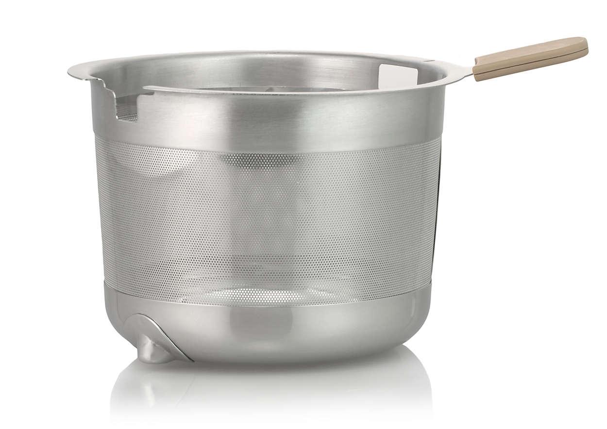Panier à feuilles et sachets de thé pour votre théière