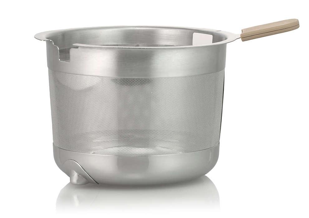 Cestino per tè o bustine di tè nella tua teiera
