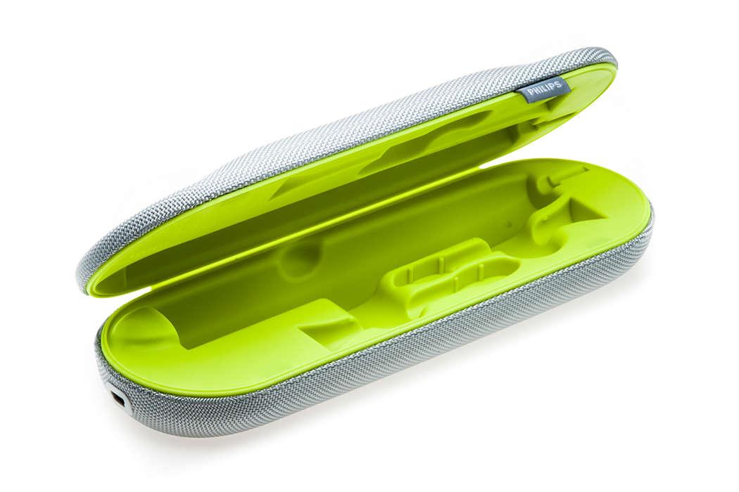 Til opladning af tandbørsten på rejser