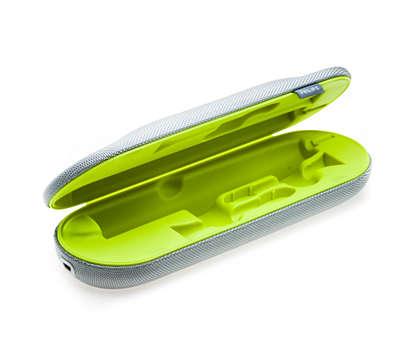 Pour charger votre brosse à dents en déplacement