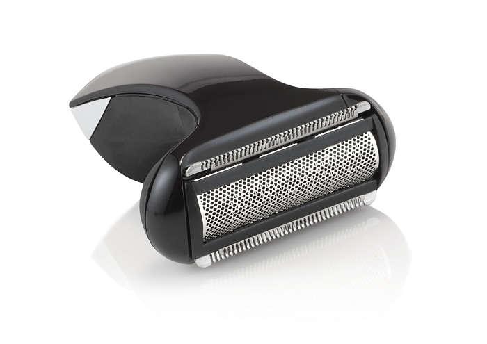 Shaving unit with foil for body groomer
