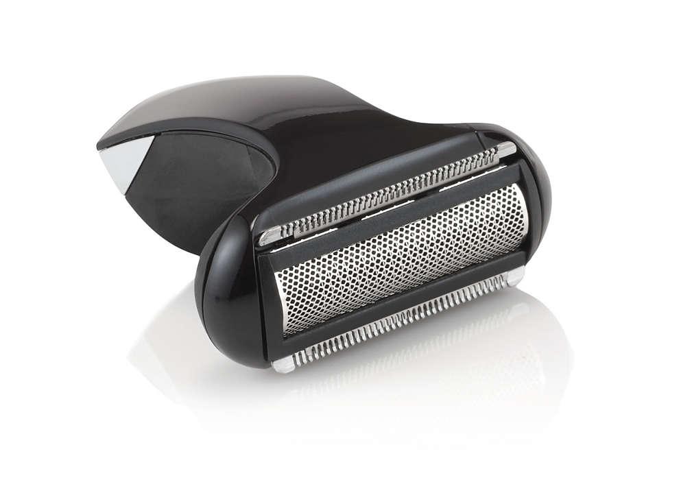 Tête de rasoir avec grille pour tondeuse corps