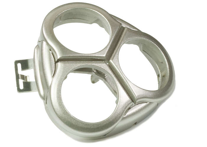 Dispositivo di bloccaggio delle testine di rasatura