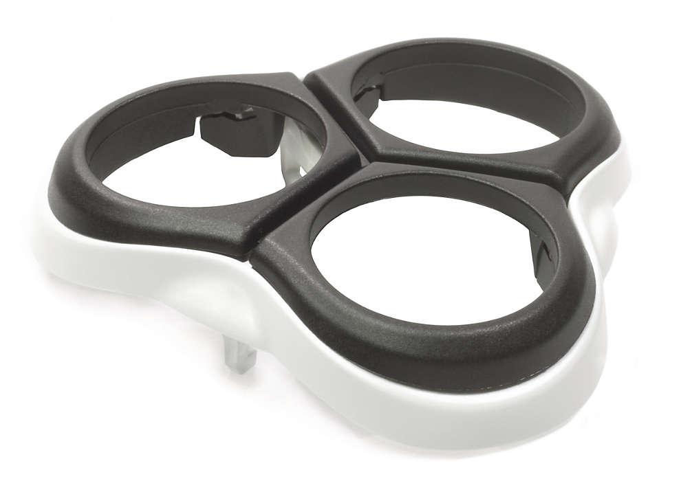 Ein Gestell, in dem Sie die Scherköpfe befestigen können.
