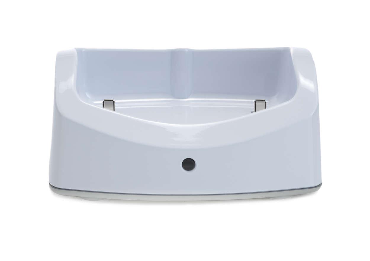 Per ricaricare semplicemente il tuo baby monitor