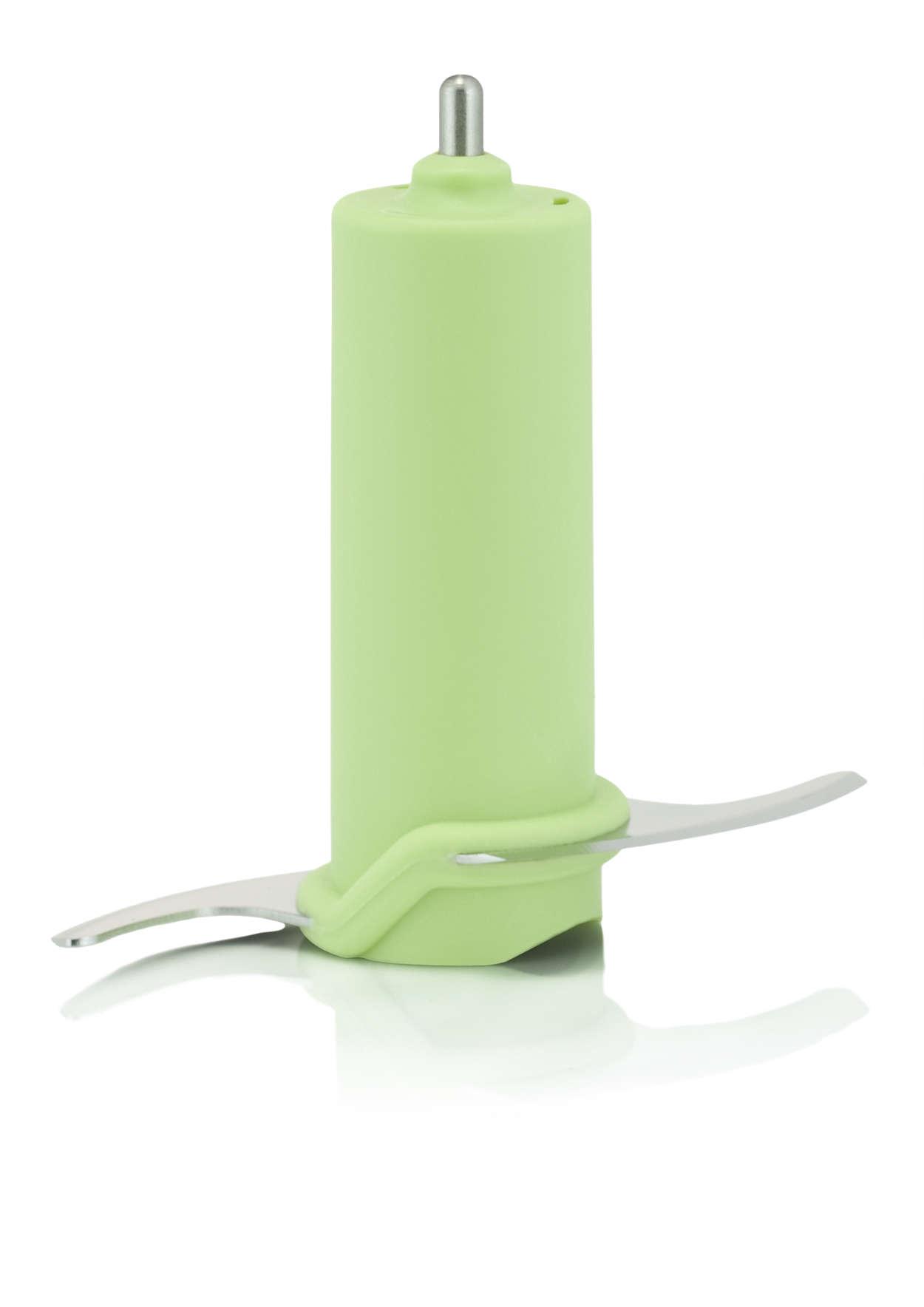 Zum Zerkleinern von Zutaten mit Ihrem Dampfgarer/Mixer