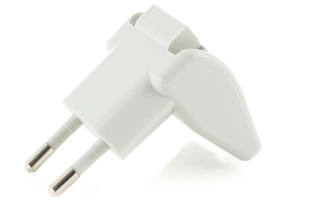 Für den Anschluss Ihrer Milchpumpe an das Stromnetz.