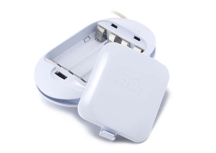 Til at forsyne den elektroniske brystpumpe med strøm