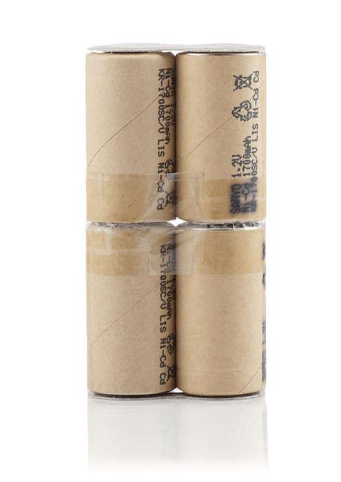 Mejor rendimiento de limpieza con esta batería