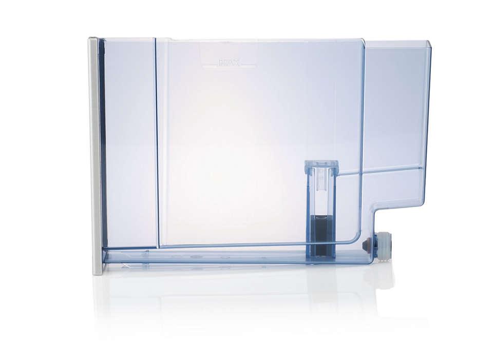 Para almacenar el agua de la cafetera expreso