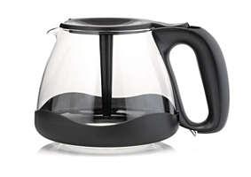 aroma twister koffiekan met beschermrand, zwart