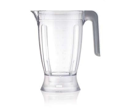 Blender beaker for food processor