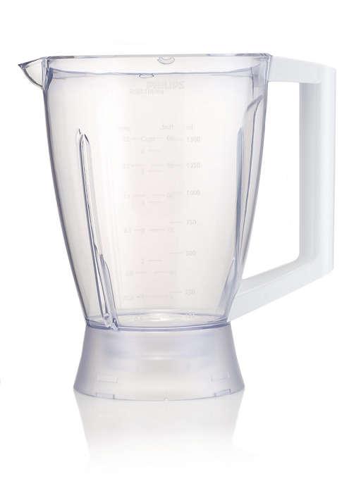 Plastic beaker for blender