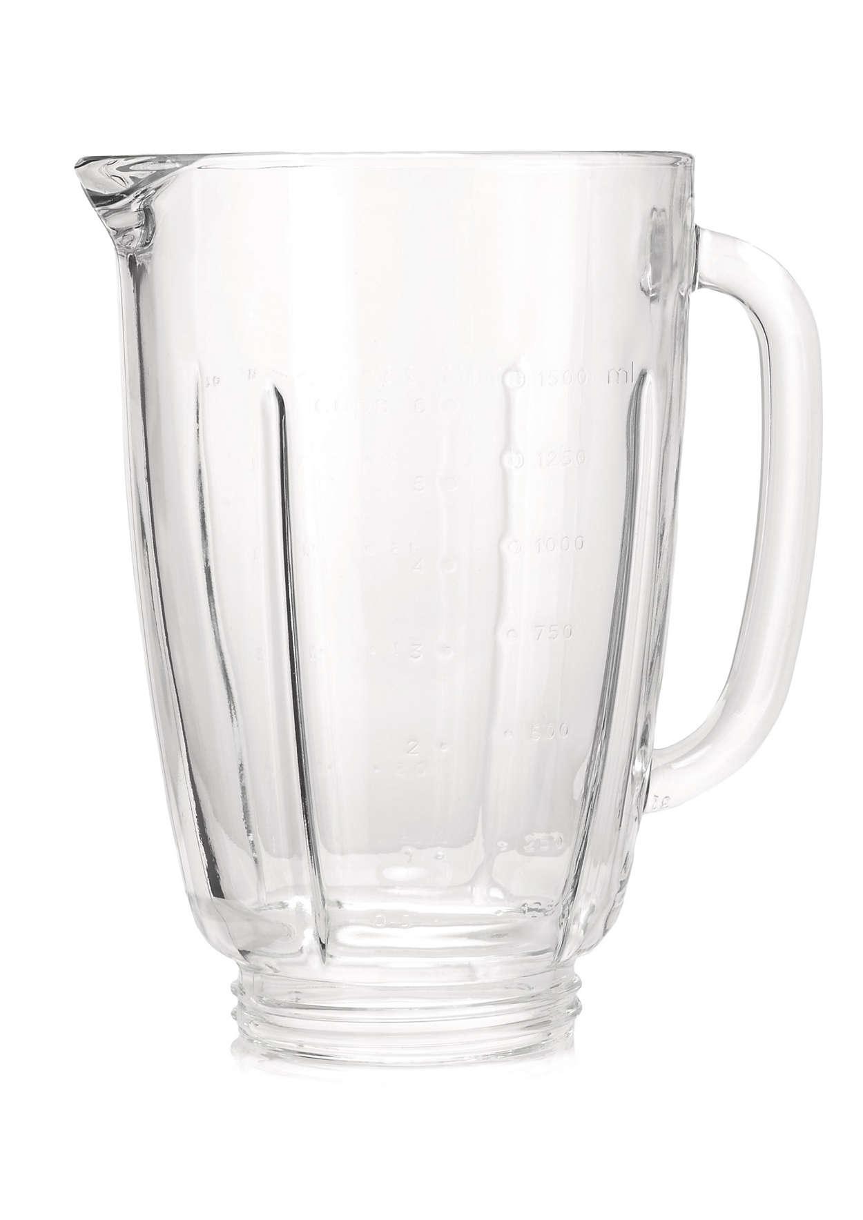Glazen blenderbeker