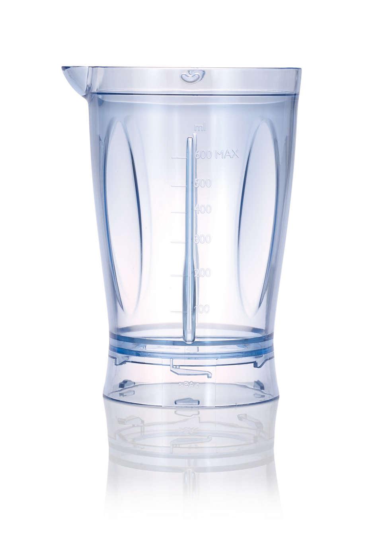 Plastic beaker for mini blender