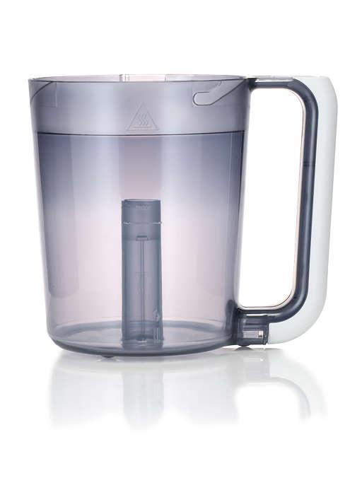 Bestandteil des kombinierten Dampfgarers und Mixers