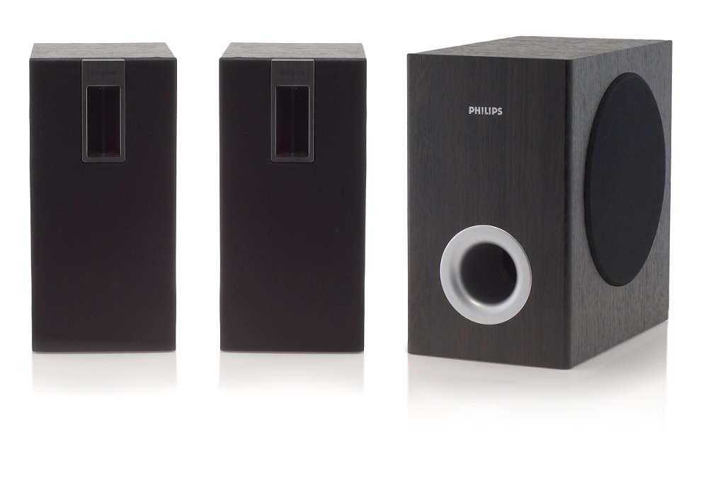 Kast met meerdere luidsprekers