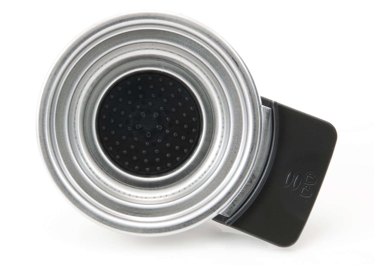 Plads til to kaffepuder i din SENSEO®-kaffemaskine