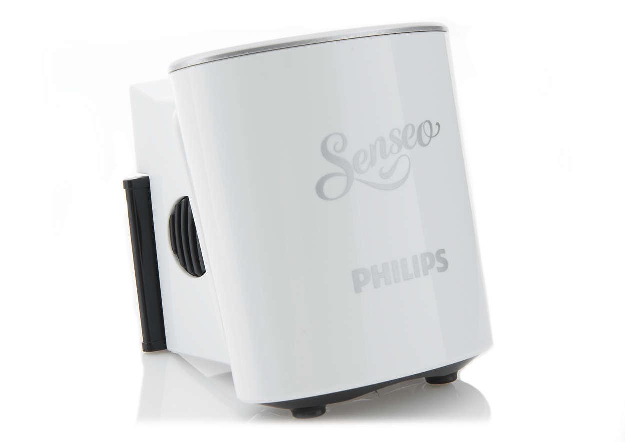 Leder kaffe från kapselhållaren ned i koppen