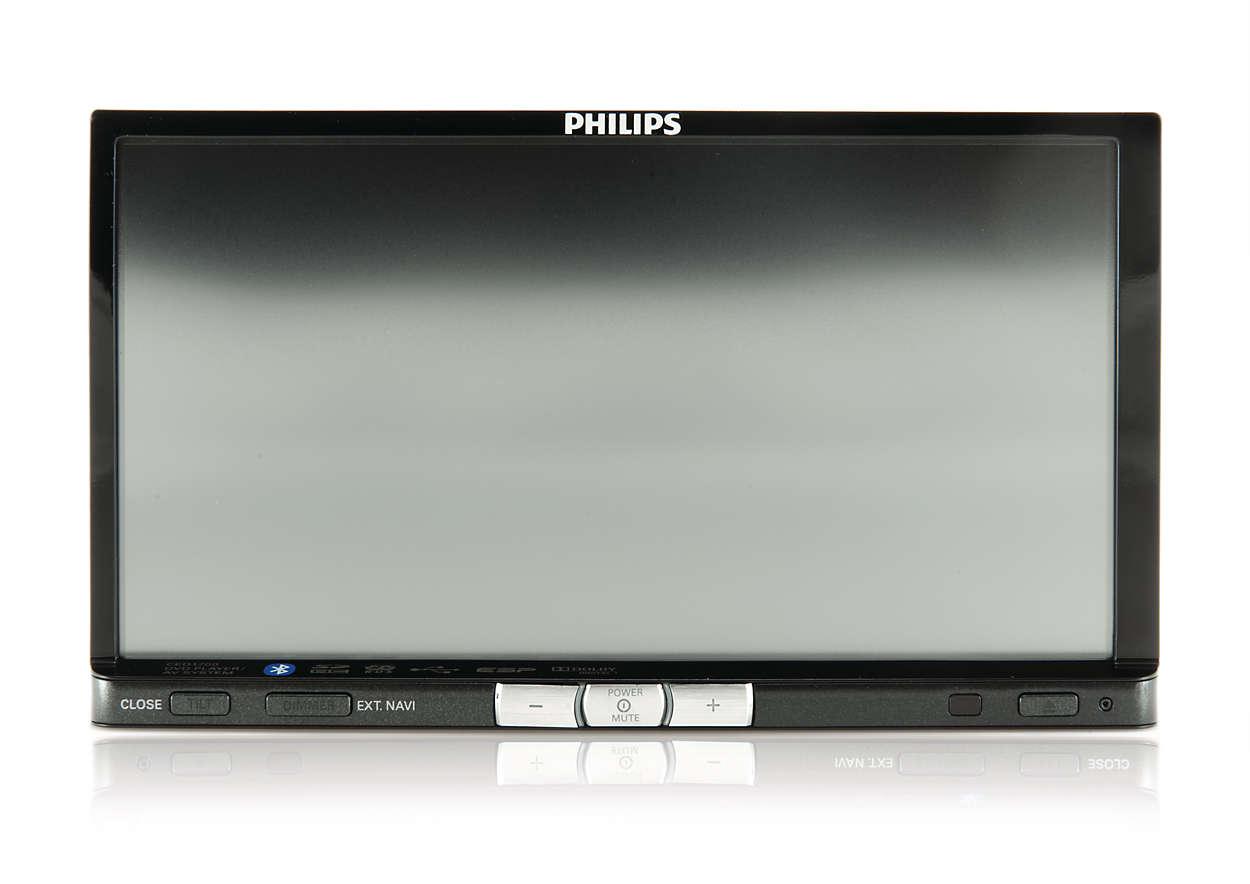 Frontpanel för ljud- och videosystem i bil
