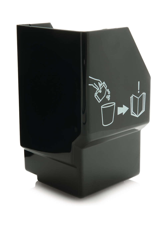 Voor het opvangen van gebruikte gemalen koffie