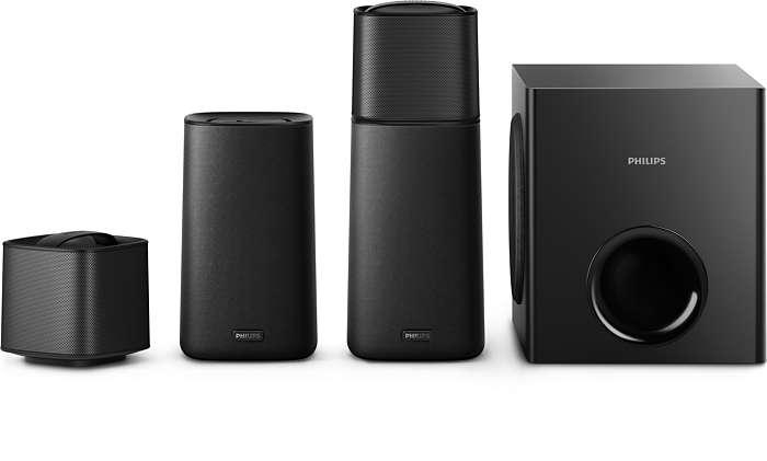 Szybkie przełączanie z dźwięku stereo na dźwięk przestrzenny