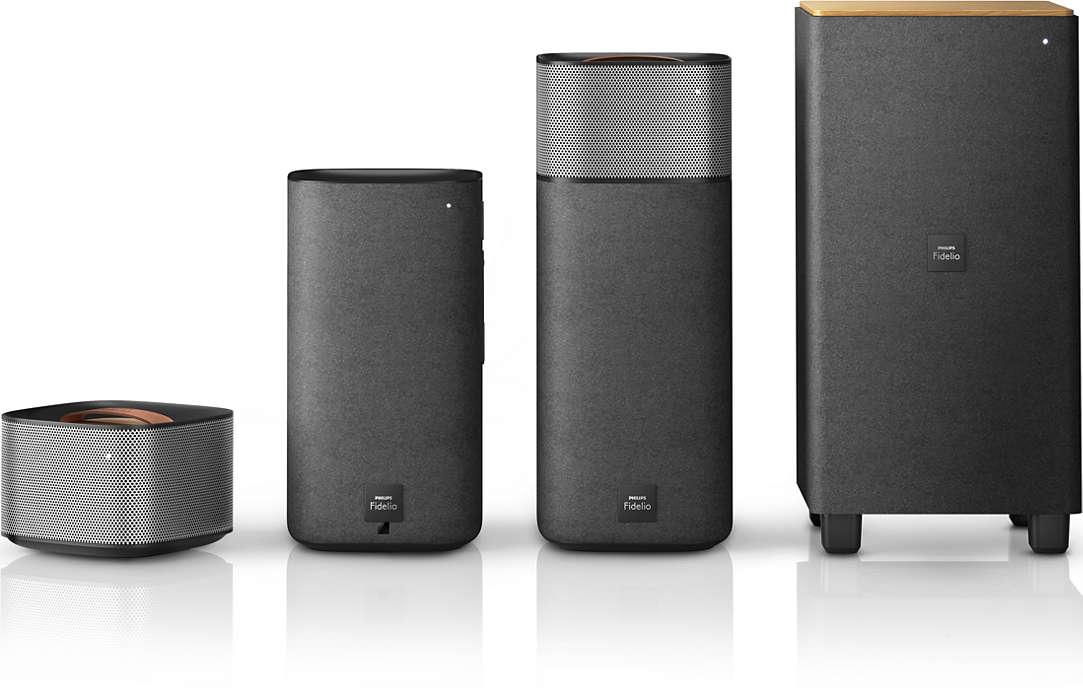 Erőteljes, moziszerű surround hangzás