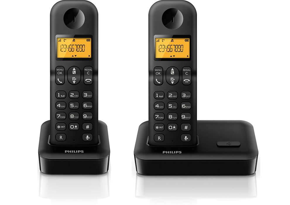 Cordless phone d1501b/90 | philips.