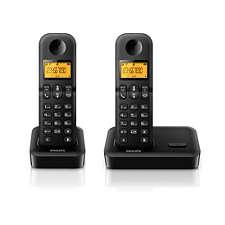 "D1502b/63 philips cordless phone d1502b d150 1. 6"" display/ amber."