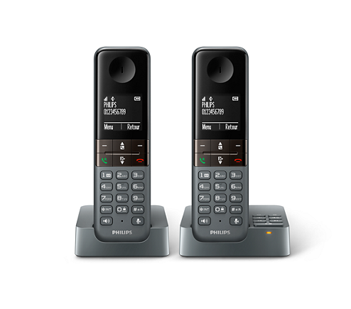 T l phone fixe sans fil avec r pondeur d4552dg fr philips - Premier telephone fixe ...