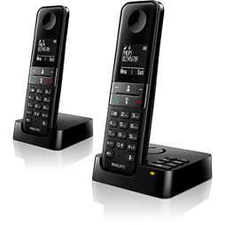 Vezeték nélküli, üzenetrögzítős telefon