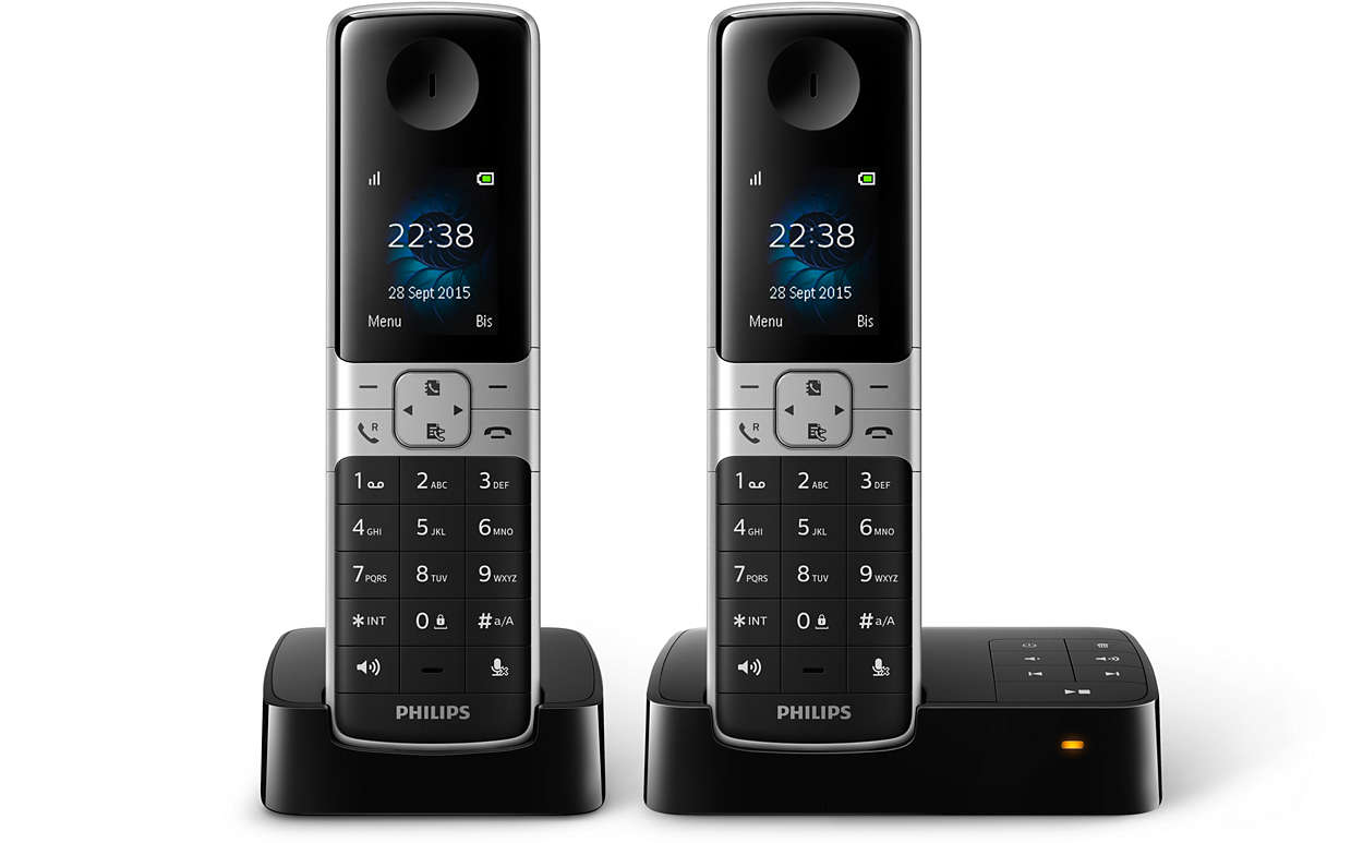 t l phone fixe sans fil avec r pondeur d6352b fr philips. Black Bedroom Furniture Sets. Home Design Ideas