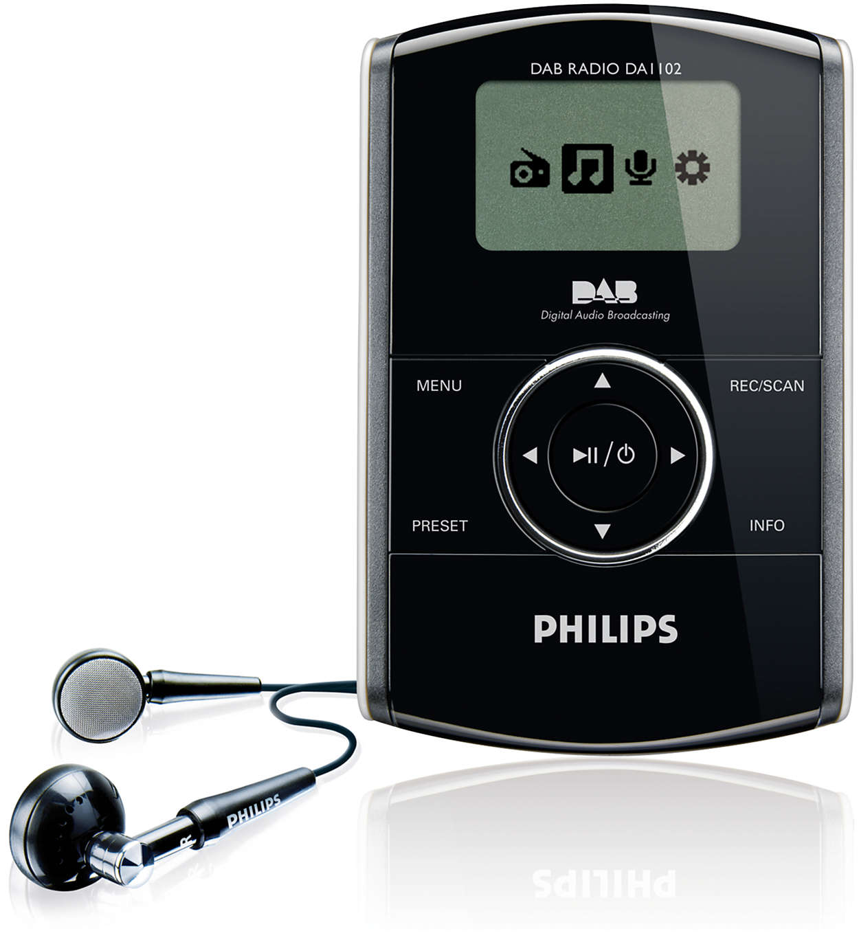 portable radio da1102 05 philips. Black Bedroom Furniture Sets. Home Design Ideas