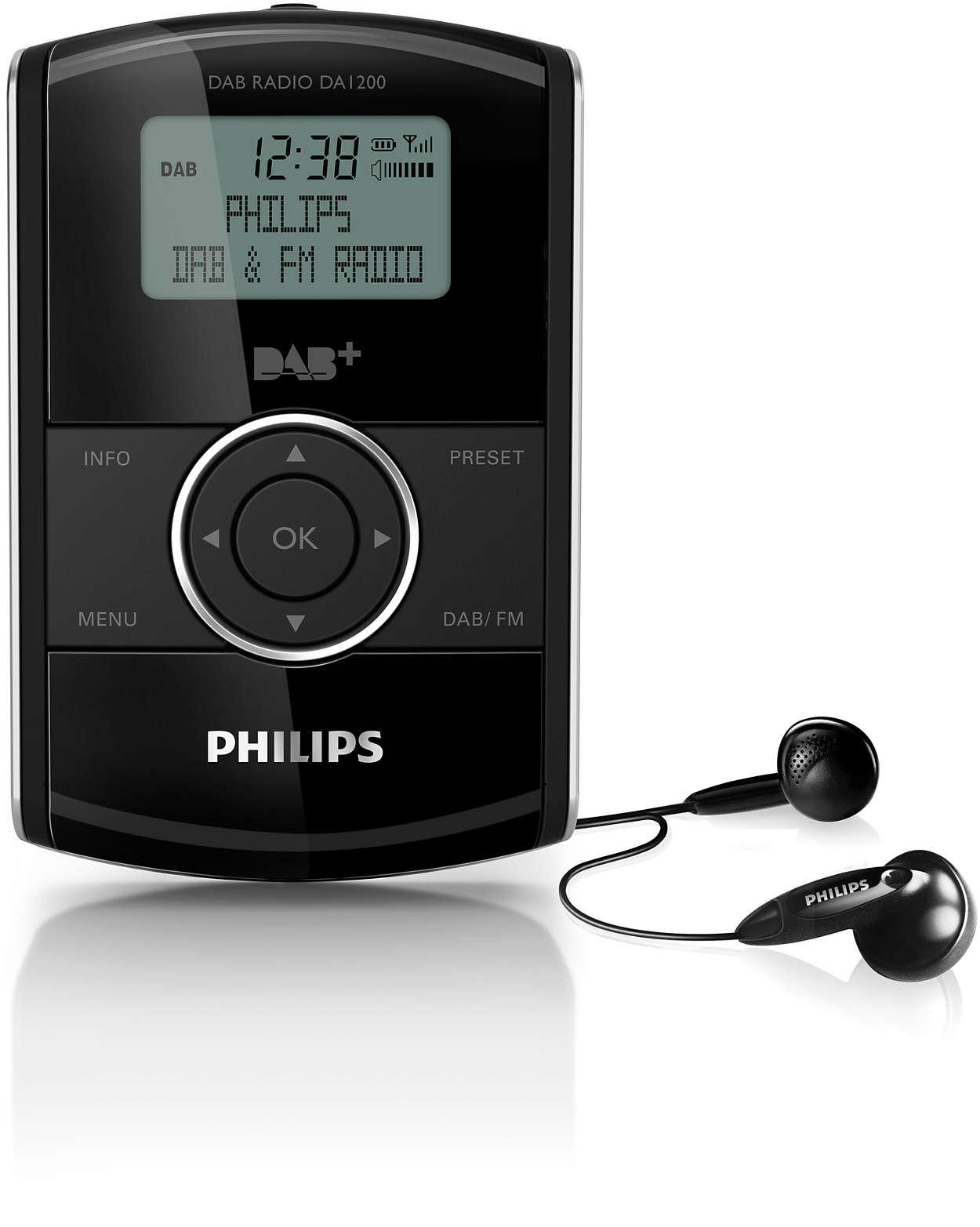 Lyssna på DAB+-radio oavsett var du befinner dig!