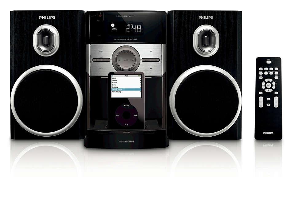 Enjoy iPod music in Hi-Fi sound