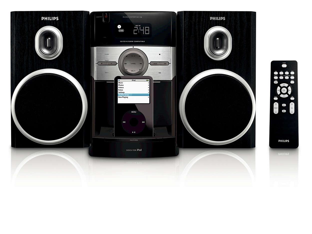 Слушайте музыку с iPod с Hi-Fi звучанием