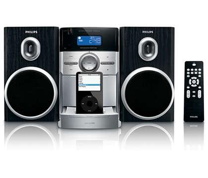 Enjoy iPod music in superb sound