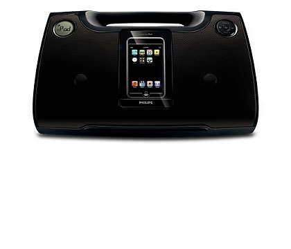 Užijte si iPod a hudbu ve formátu MP3 nahlas všude, kam půjdete