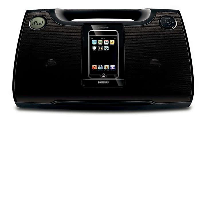 Nyt iPod- og MP3-musikk høyt hvor som helst