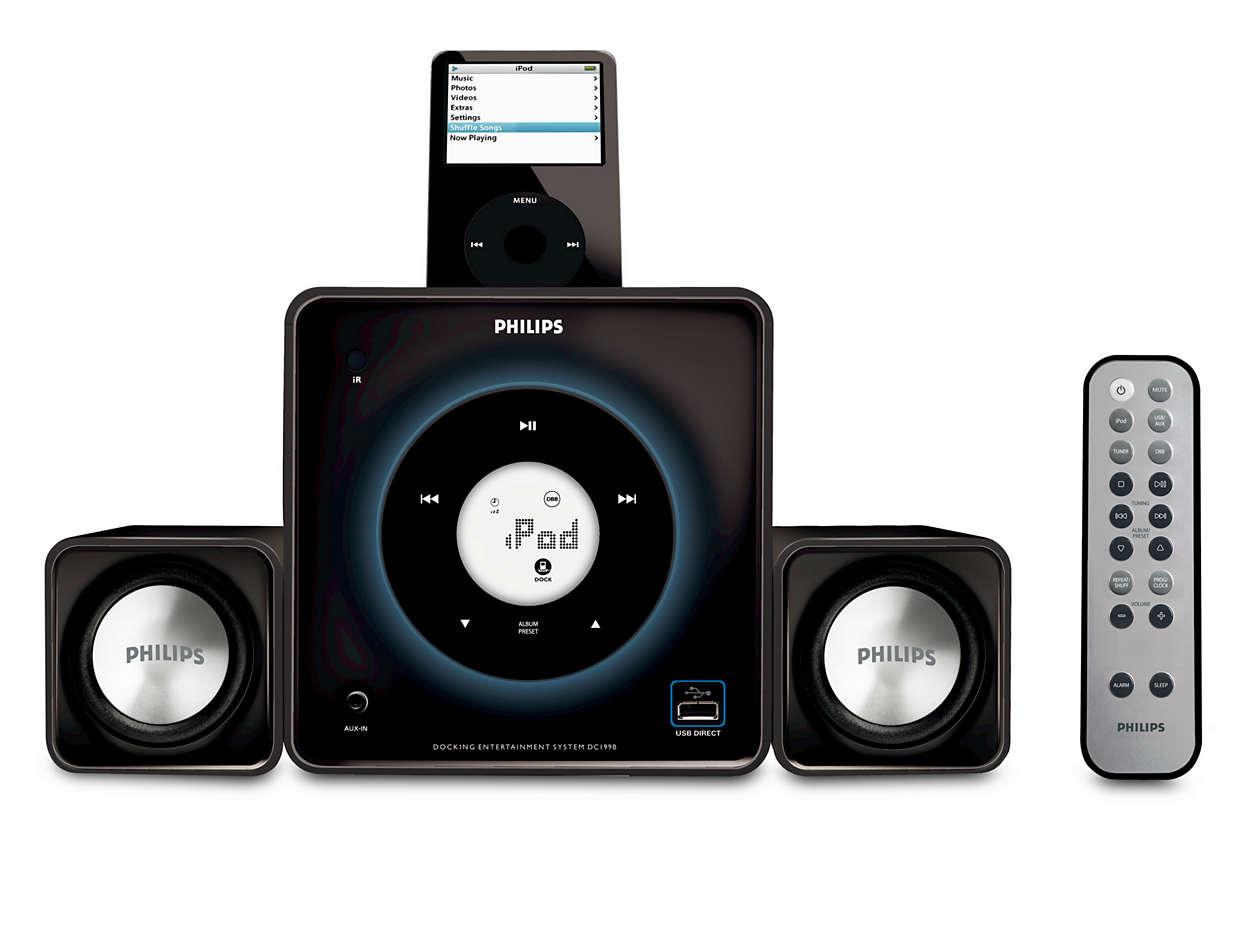 Docka och spela din digitala musik högt